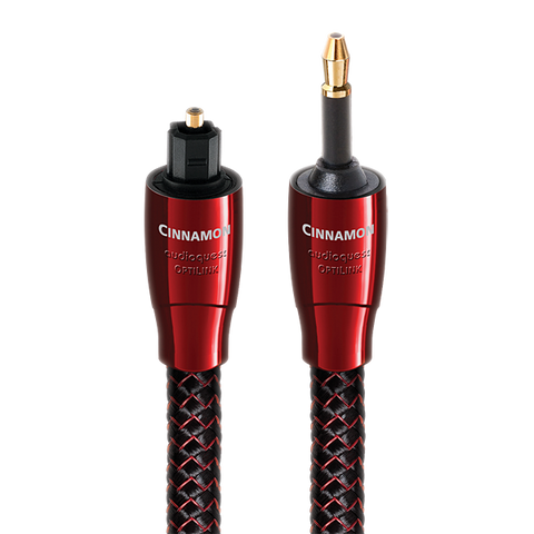 AudioQuest Cinnamon OptiLink Digital Audio (Toslink-3.5mm Mini Toslink) Optical Cable