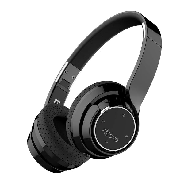 MEE audio Wave Bluetooth Wireless On-Ear Headphones (Black)