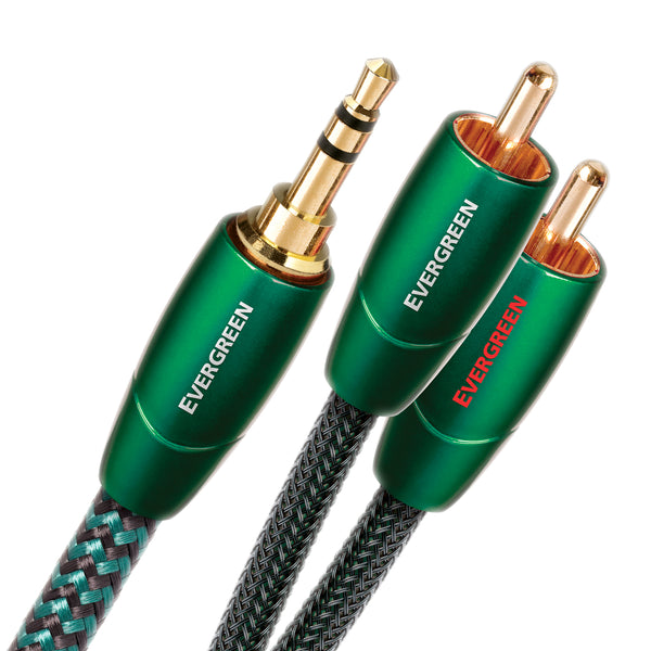 AudioQuest Evergreen Analog Audio Interconnect (3.5mm to RCA) Cable