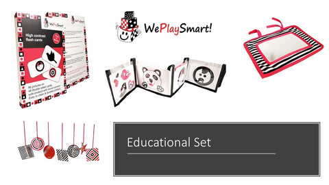 Flashcards, Cot bumper, Baby mirror and 3D paper set (free RSA shipping & Maths program incl) - Weplaysmart RSA
