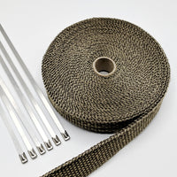 15M Titanium Lava Rock Exhaust Wrap (870°C)
