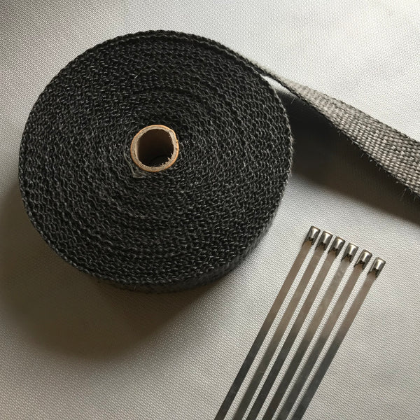 5M Black Exhaust Wrap (550°C)