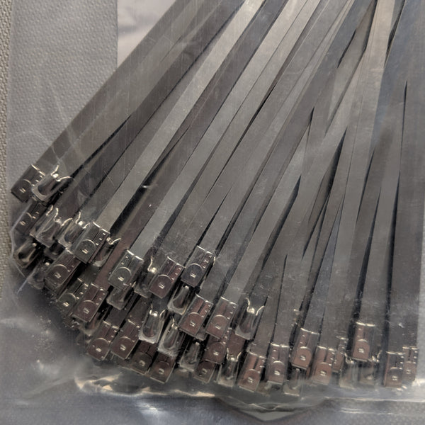 Pack of 100 Steel Cable Ties