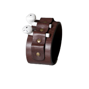 Genuine Leather Airpods Holder, Leather bracelet, Airpods holder, Airpods, Airpods case, Apple, Airpods Bracelet, handmade, precious stones, genuine leather,  Airpod Holder Strap