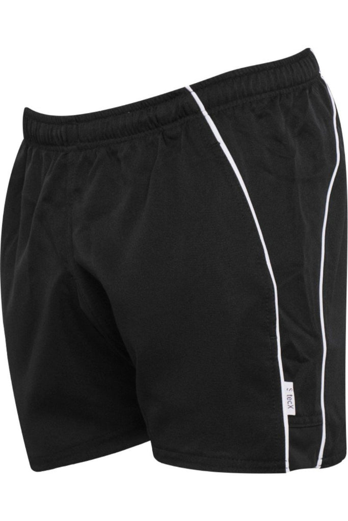 Blue Max Banner Pro Tec Rugby Shorts 111737 Black/White