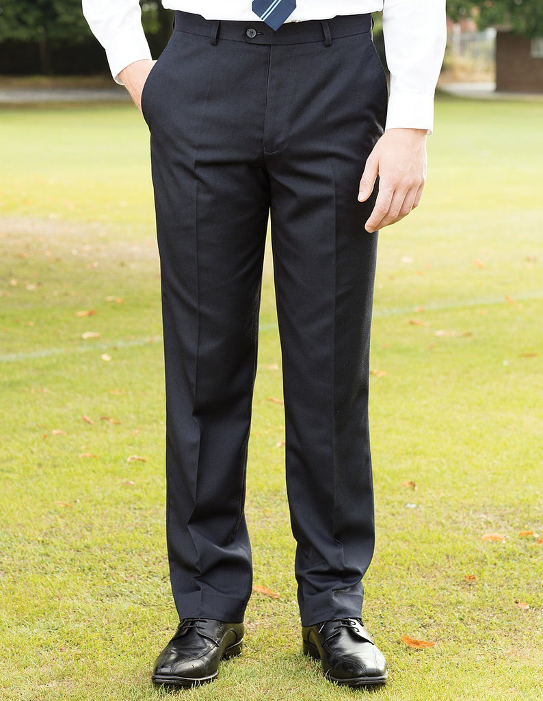 Blue Max Banner Aspire Boys Flat Front Trousers 1JF