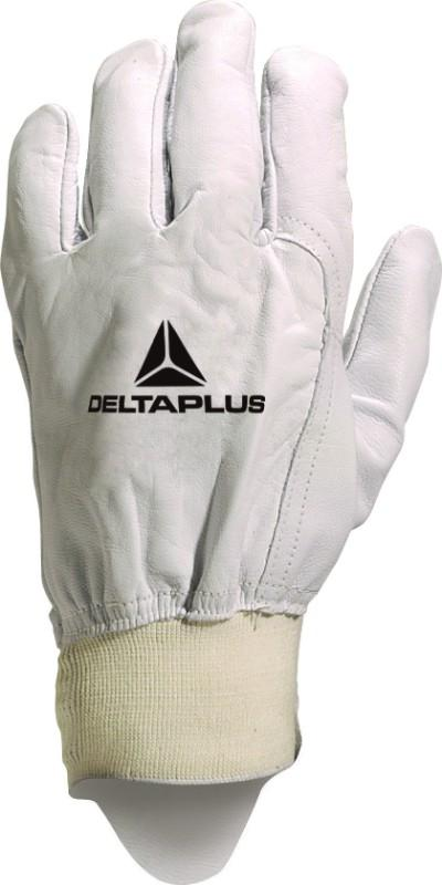 Delta Plus Unisex Goatskin Full Grain Leather With Ribbed Cuff Glove 51FEDF