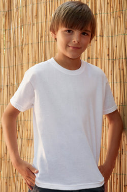 Fruit Of The Loom Children's Valueweight T-Shirt 61033 lifestyle image white