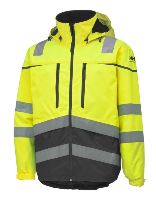 Helly Hansen Toensberg EN471 Hi Vis Waterproof Jacket 71147 yellow charcoal