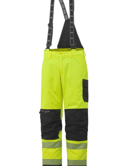 Helly Hansen York Insulated EN471 Class 2 Hi Vis Waterproof Pant 71466 yellow charcoal