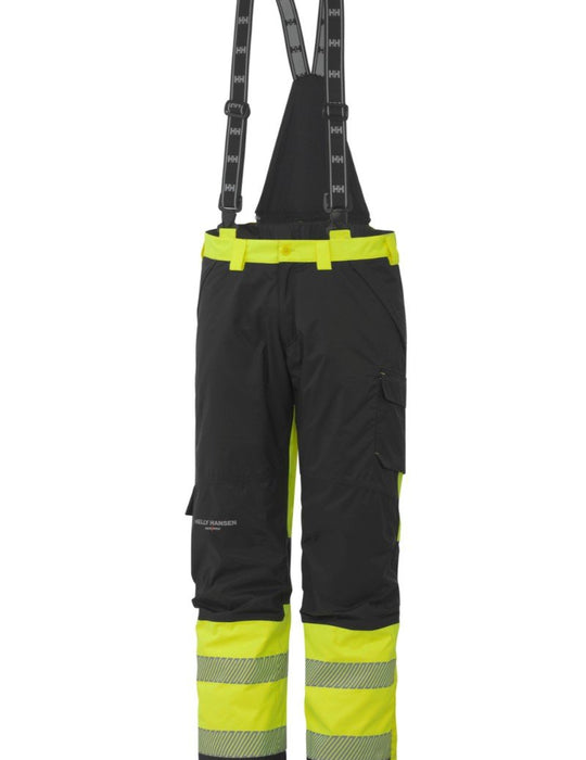 Helly Hansen York Insulated EN471 Class 1 Hi Vis Waterproof Pant 71467 yellow charcoal