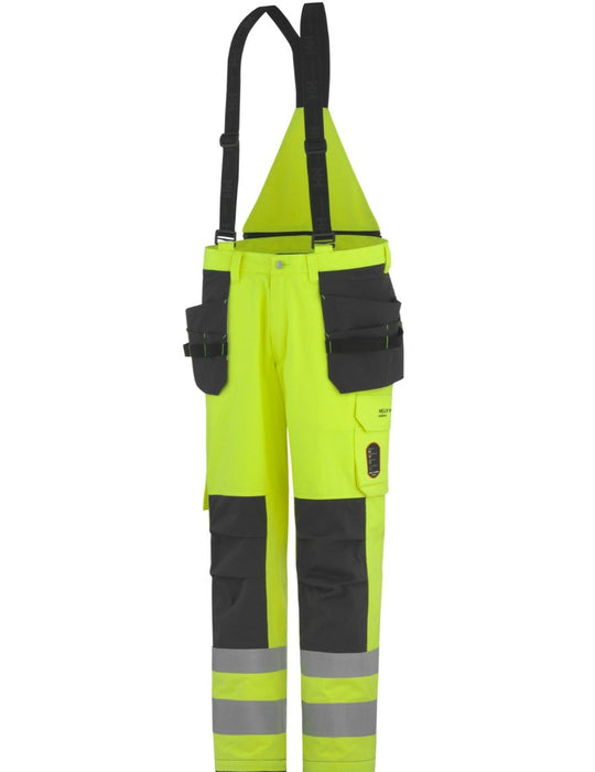 Helly Hansen Aberdeen Insulated Construction Flame Retardant Hi Vis Class 2 Waterproof Pant 71484 yellow