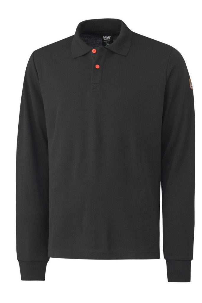 Helly Hansen Fakse Flame Retardant and anti static Long Sleeve Polo 75069 Black