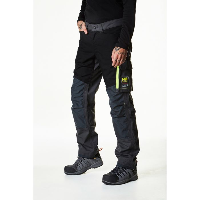Helly Hansen Aker Work Pant 77400 dark grey black front view