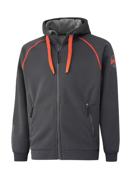 Helly Hansen Chelsea Hoodie 79147 dark grey orange
