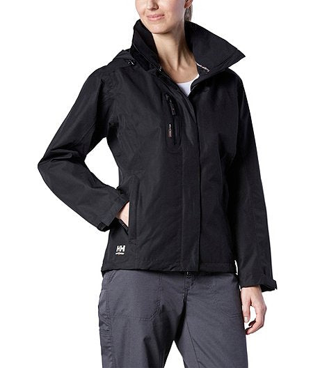 Helly Hansen Haag Waterproof Womens Softshell Jacket 74044 Black front view lifestyle image