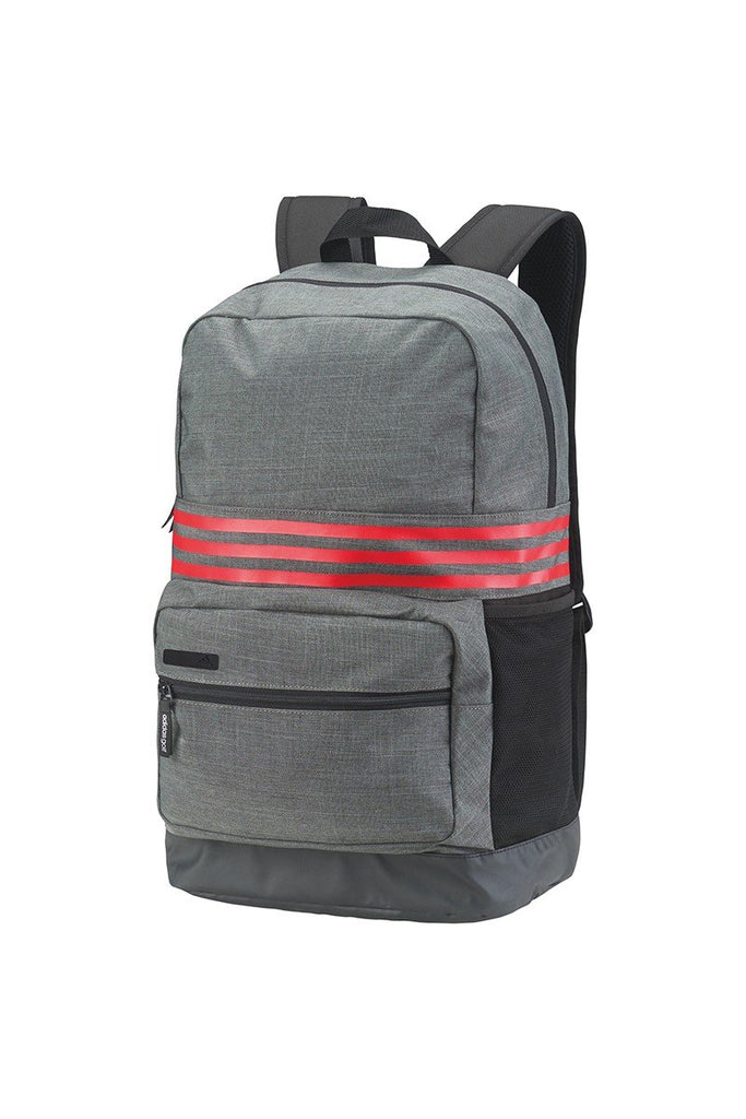 adidas® 3-Stripes medium backpack AD183 Dark Grey Heather/ Scarlet One Size