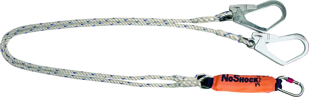 Delta Plus Energy Absorber Fall Arrester Ø 12mm Double 2m Rope + 3 AM002 Karabiner AN211200CCC