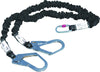Delta Plus Energy Absorber Fall Arrester With Strech Double 2m Lanyard + 2 AM022 + 1 AM002 Karabiner AN2540CDD