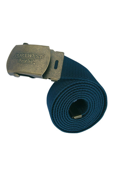 Portwest Elasticated Work Belt C107 Navy 2XL