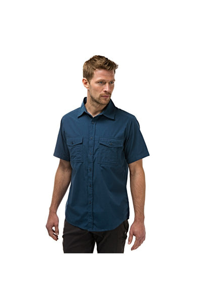 Craghoppers Expert Range Kiwi Short Sleeved Shirt CMS339 Dark Grey 4XL