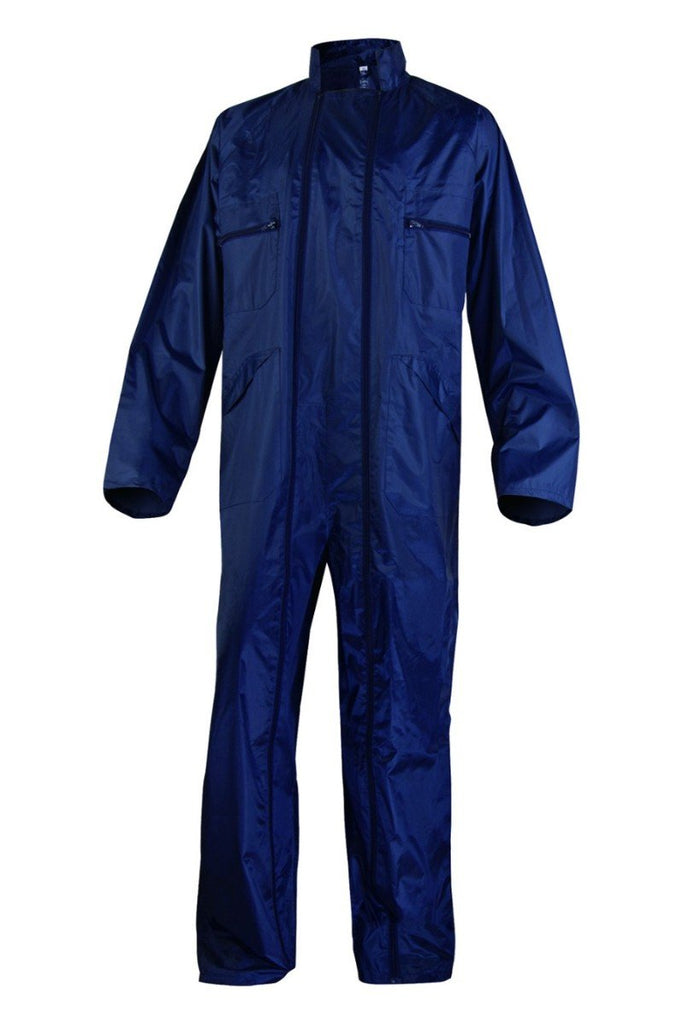 Delta Plus Rain Overall In Polyester With PVC Coated CO400 Navy Blue