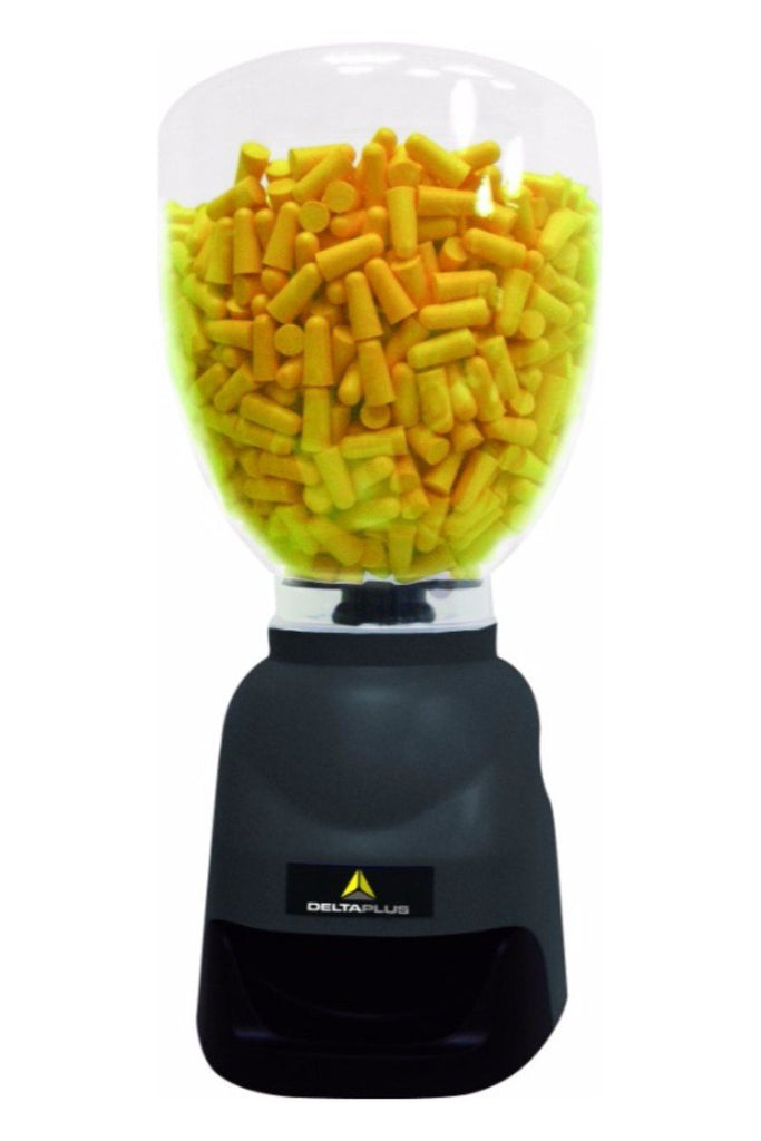 Delta Plus Earplugs Dispenser With 500 Pairs Of CONIC500. CONIC DISPLAY Grey
