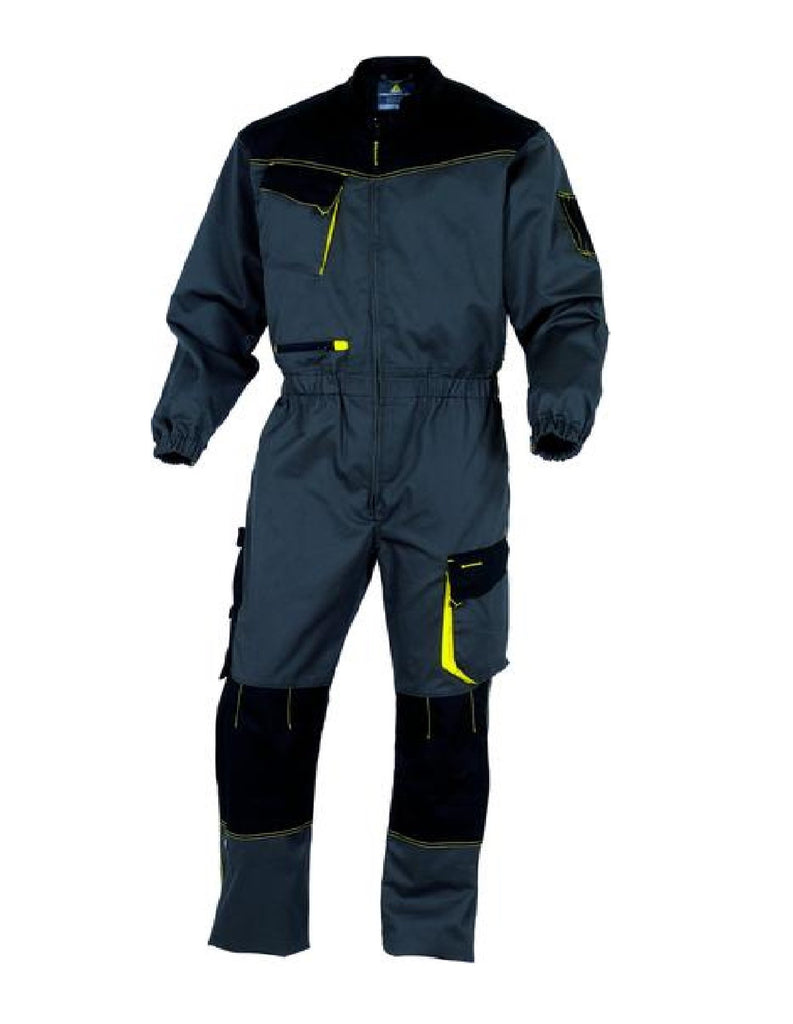 Delta Plus D-Mach Working Overall In Polyester Cotton DMACHOM Grey/Yellow