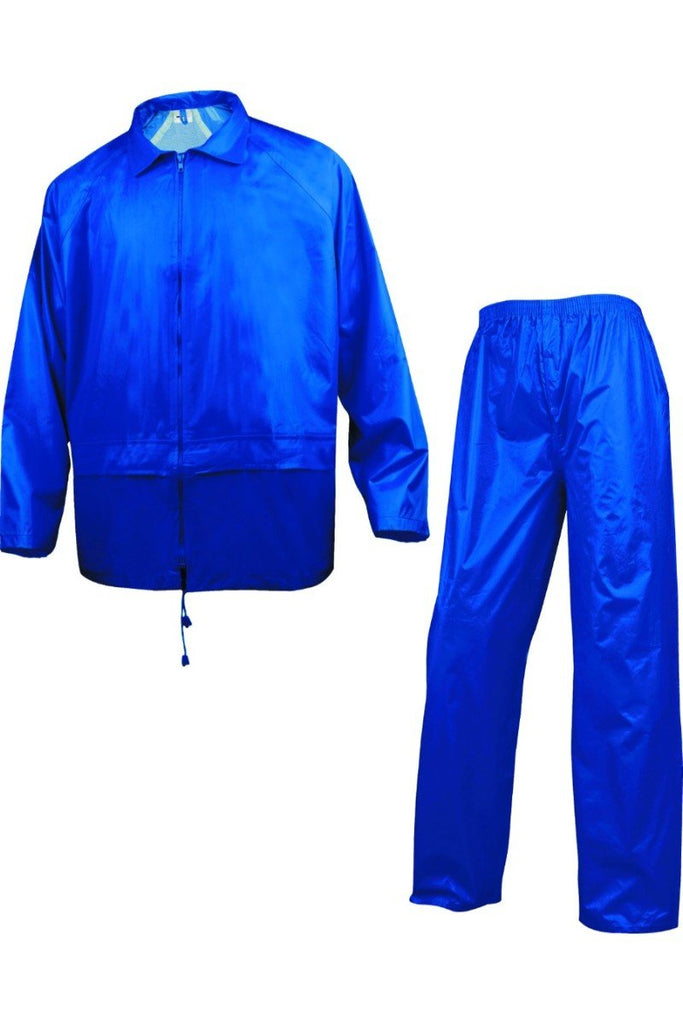 Delta Plus  Rain Suit In Polyester With PVC Coated 400 Royal Blue