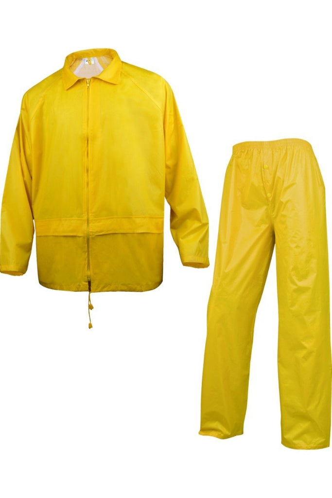 Delta Plus  Rain Suit In Polyester With PVC Coated 400 Yellow
