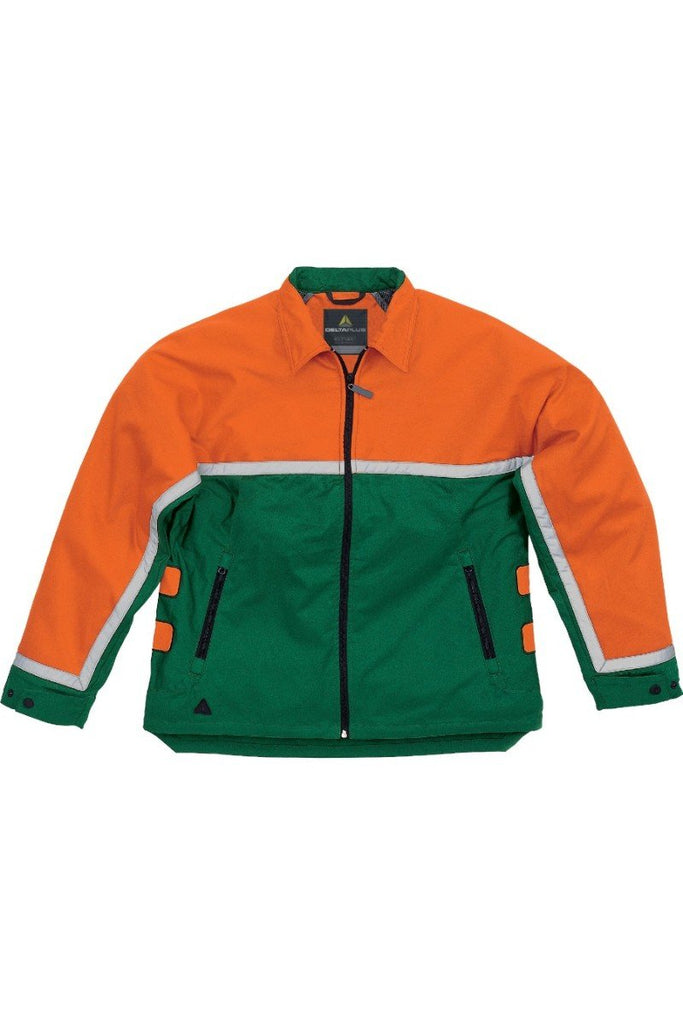Delta Plus Jacket For Lumberjacks Cut Resistant Compound Lining EPICEA 3 Green/Orange