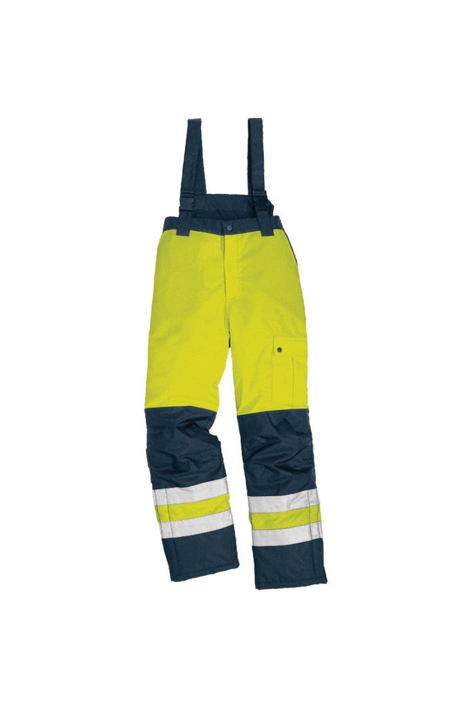 Delta Plus Pu Coating Polyester High Visibility Warm Trousers FARGO HV Fluorescent Yellow/Navy Blue