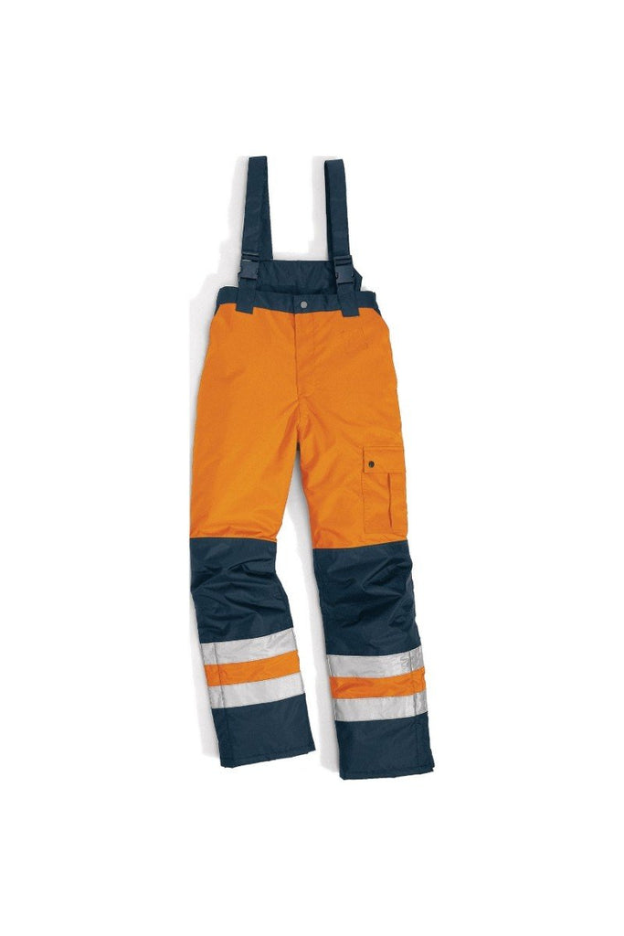 Delta Plus Pu Coating Polyester High Visibility Warm Trousers FARGO HV Fluorescent Orange/Navy Blue