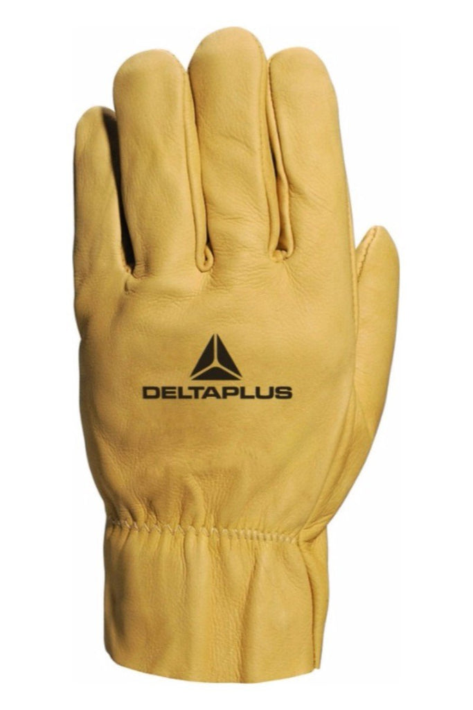 Delta Plus Water Repellent Cowhide Leather Grain Glove FBH60 Beige
