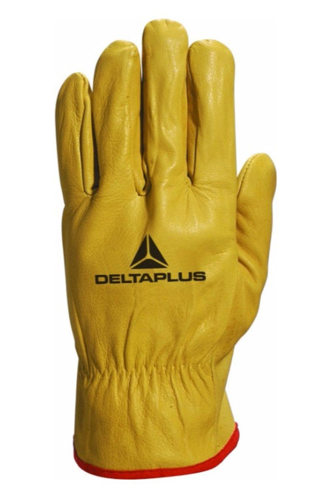 Delta Plus Yellow Cowhide Full Grain Leather Glove FBJA49