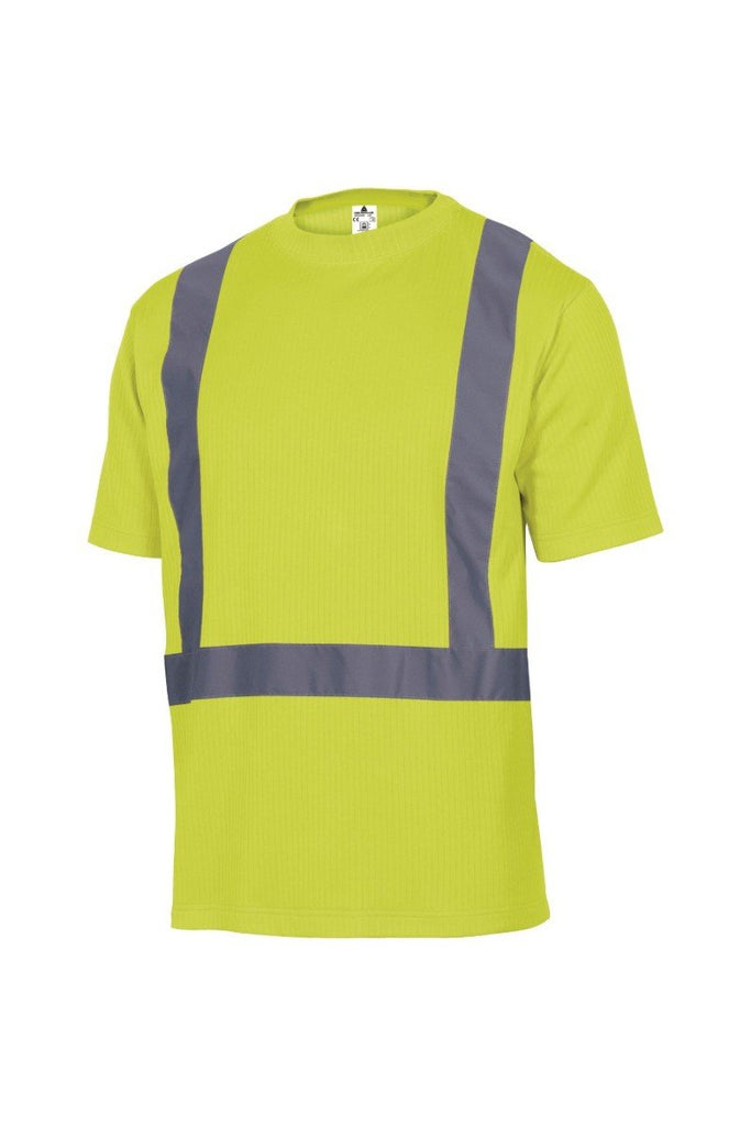 Delta Plus High Visibility Polyester / Cotton T-Shirt FEEDER Fluorescent Yellow