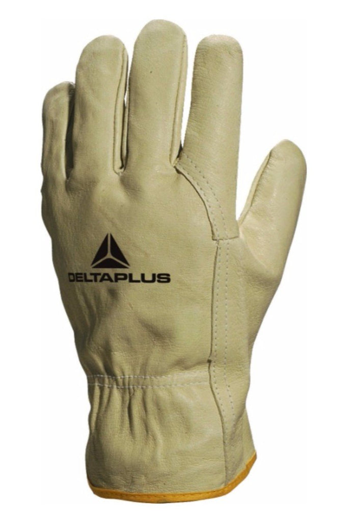 Delta Plus Pigskin Full Grain Leather Glove FP159 Beige