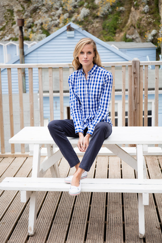Front Row Women's Checked Cotton Shirt FR503