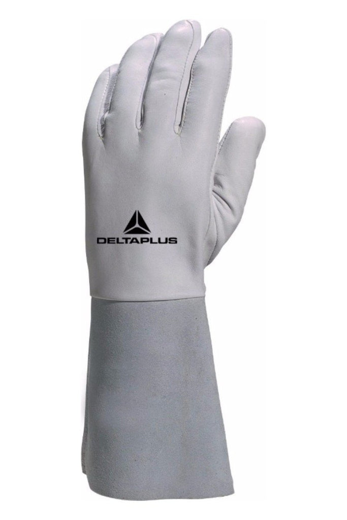 Delta Plus Kevlar® Thread Lambskin Leather Grain Glove 15 cm Cuff GFA115K Grey