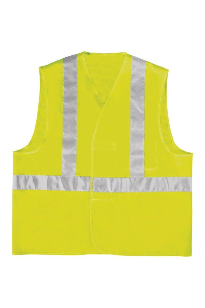 Delta Plus Polyester High Visibility Vest Shoulder Belt Assembely GILP4 Flourescent Yellow