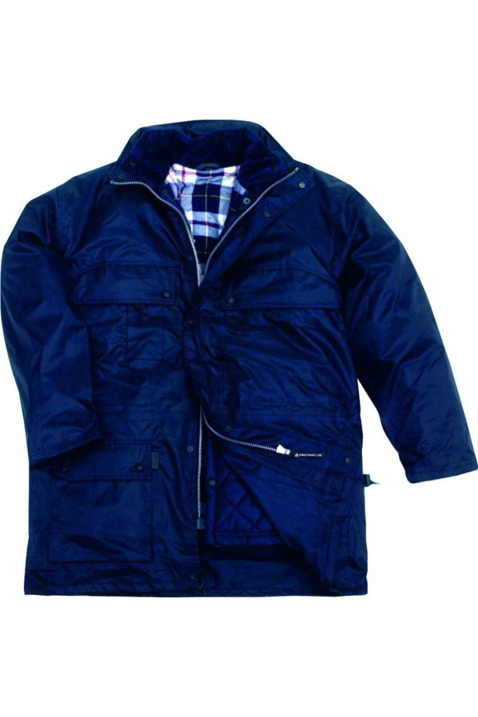 Delta Plus Parka In Polyester With PVC Coating ISOLA Navy Blue