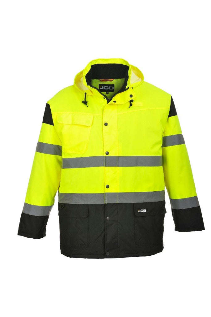 Portwest Hi-Vis Parka Jacket JC61 Yellow 3XL