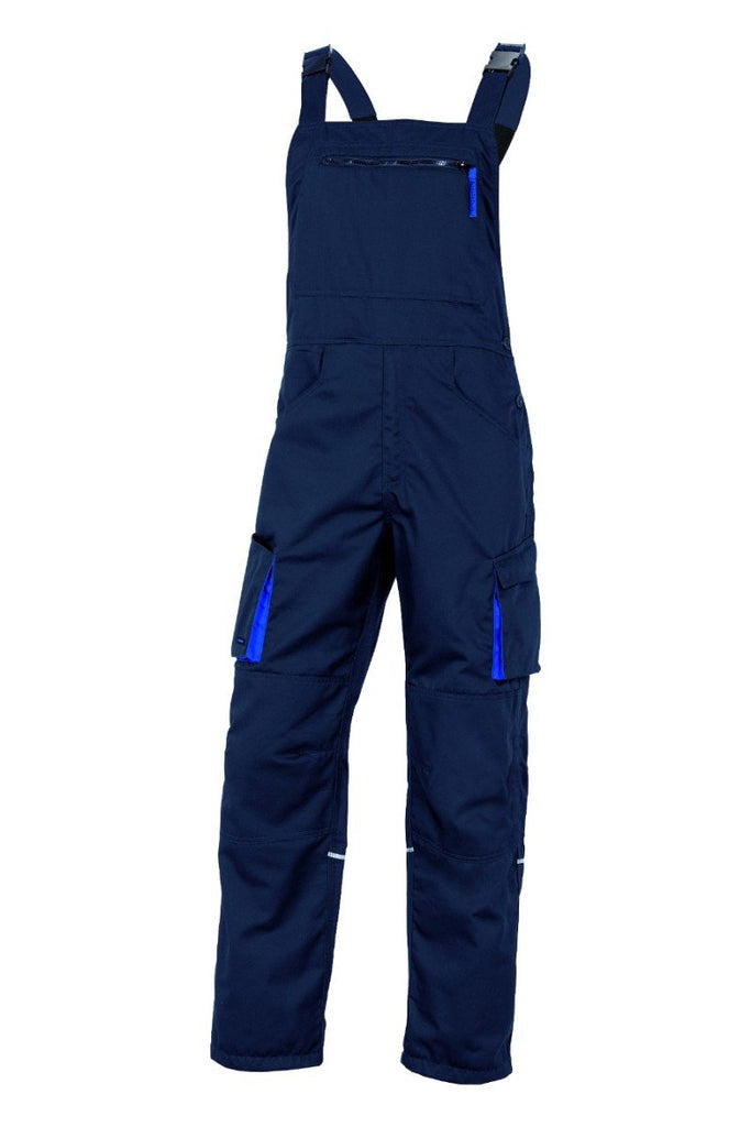 Delta Plus Mach2 Working Dungarees In polyester / Cotton M2SA2 Navy Blue/Royal Blue