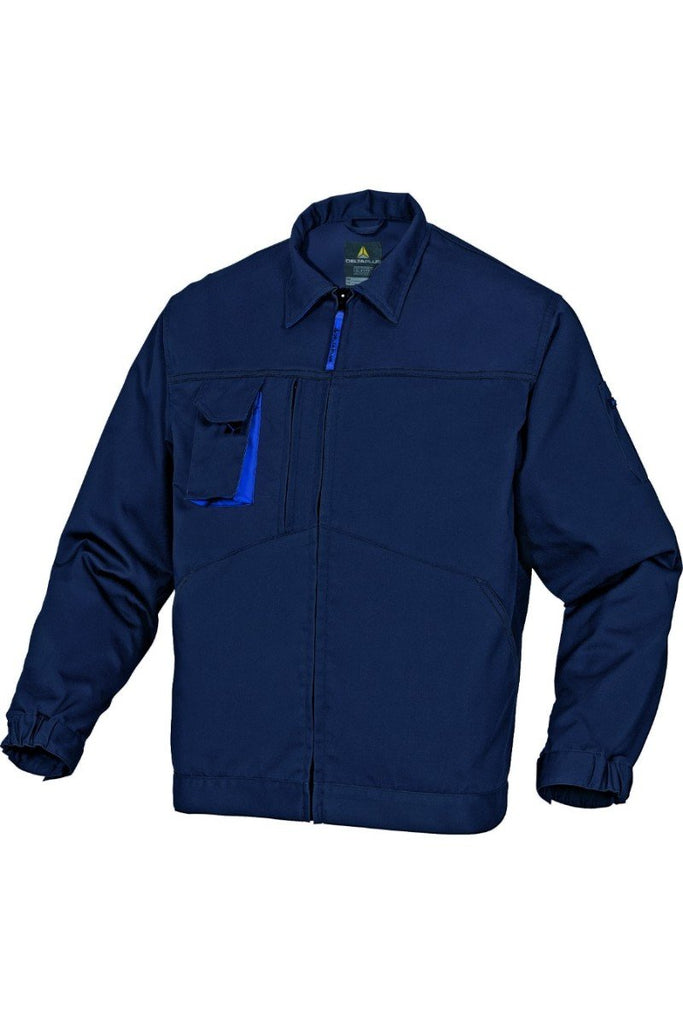 Delta Plus Mach2 Working Jacket In Polyester Cotton M2VE2 Navy Blue/Royal Blue