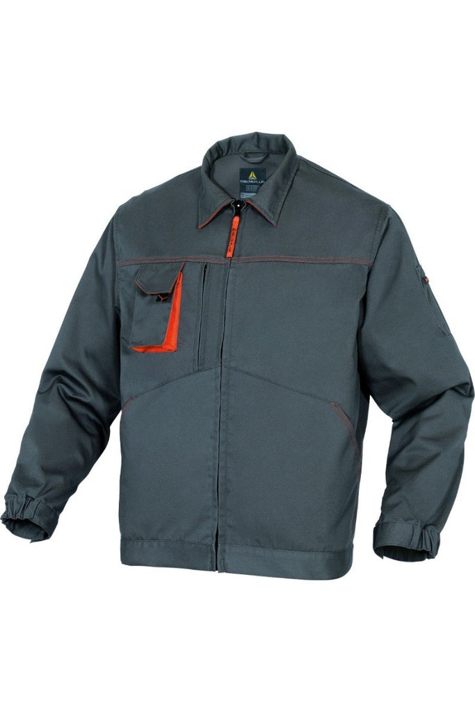 Delta Plus Mach2 Working Jacket In Polyester Cotton M2VE2 Grey/Orange