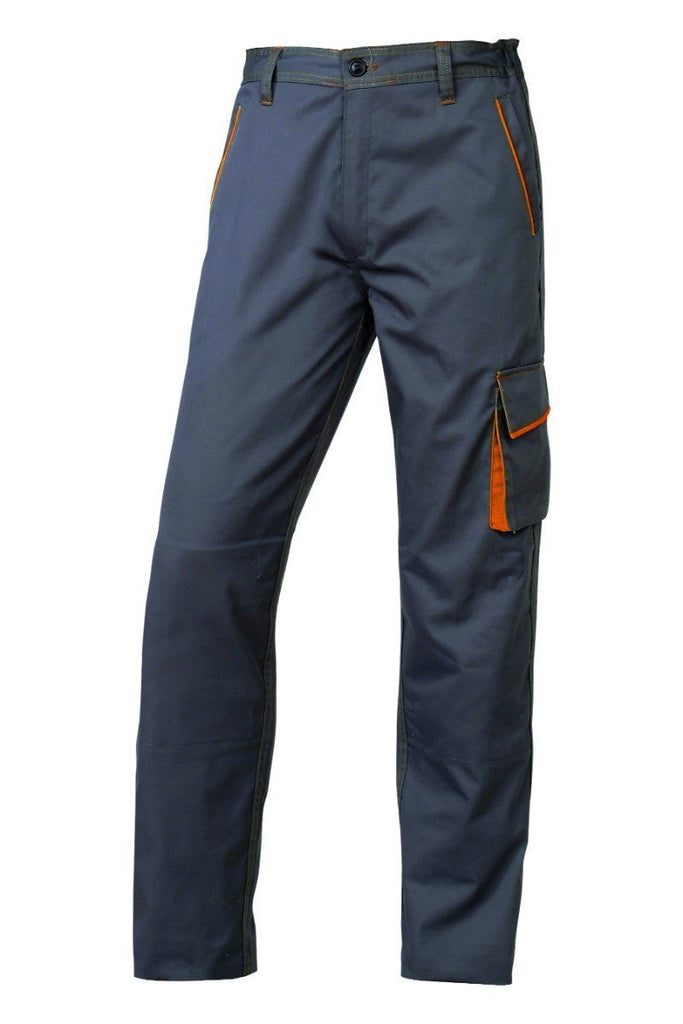 Delta Plus Polyester Cotton  Panostyle® Working Trousers M6PAN Grey/Orange