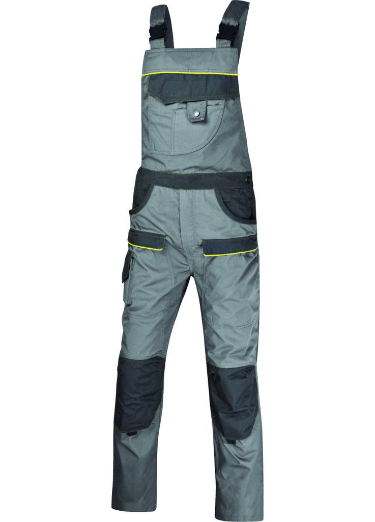 Delt Plus Mach2 Corporate Working Dungarees In Polyester Cotton MCSAL Light Grey/Dark Grey