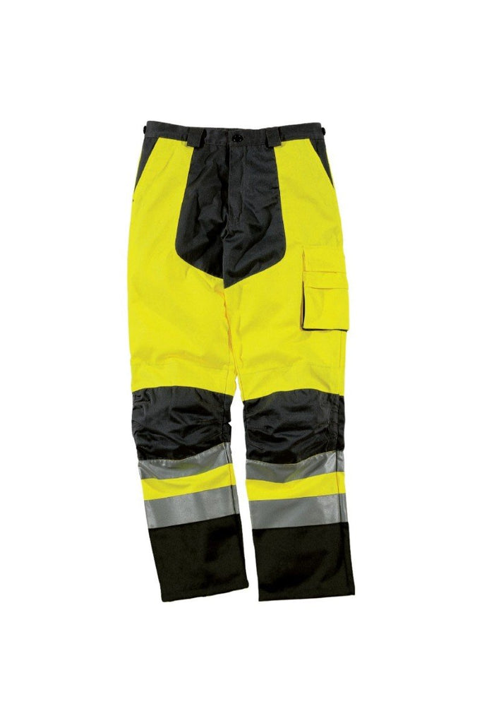 Delta Plus Mach High Visibility Working Trousers In Cotton / Polyester MHPAN