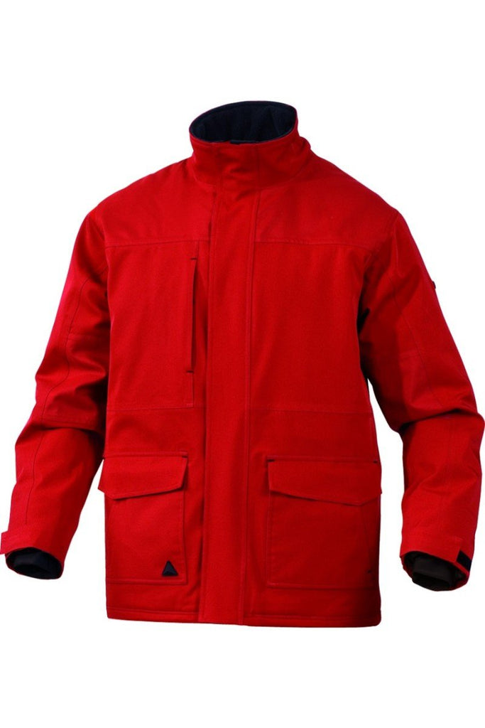 Delta Plus Polyester / Elasthane Parka Breathable And Waterproof MILTON Red