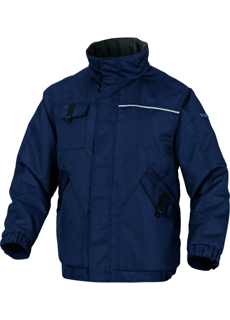 Delta Plus PU Coated Polyester Mach Warm Padded Jacket NOTHWOOD2 Navy Blue/Royal Blue